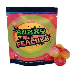 Buzzy Peaches THC infused Gummies 400 mg